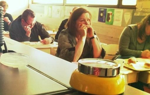 Ryhmä Raunistulan koulun opettajia tutustui kaupunkitaiteen eri kulmiin